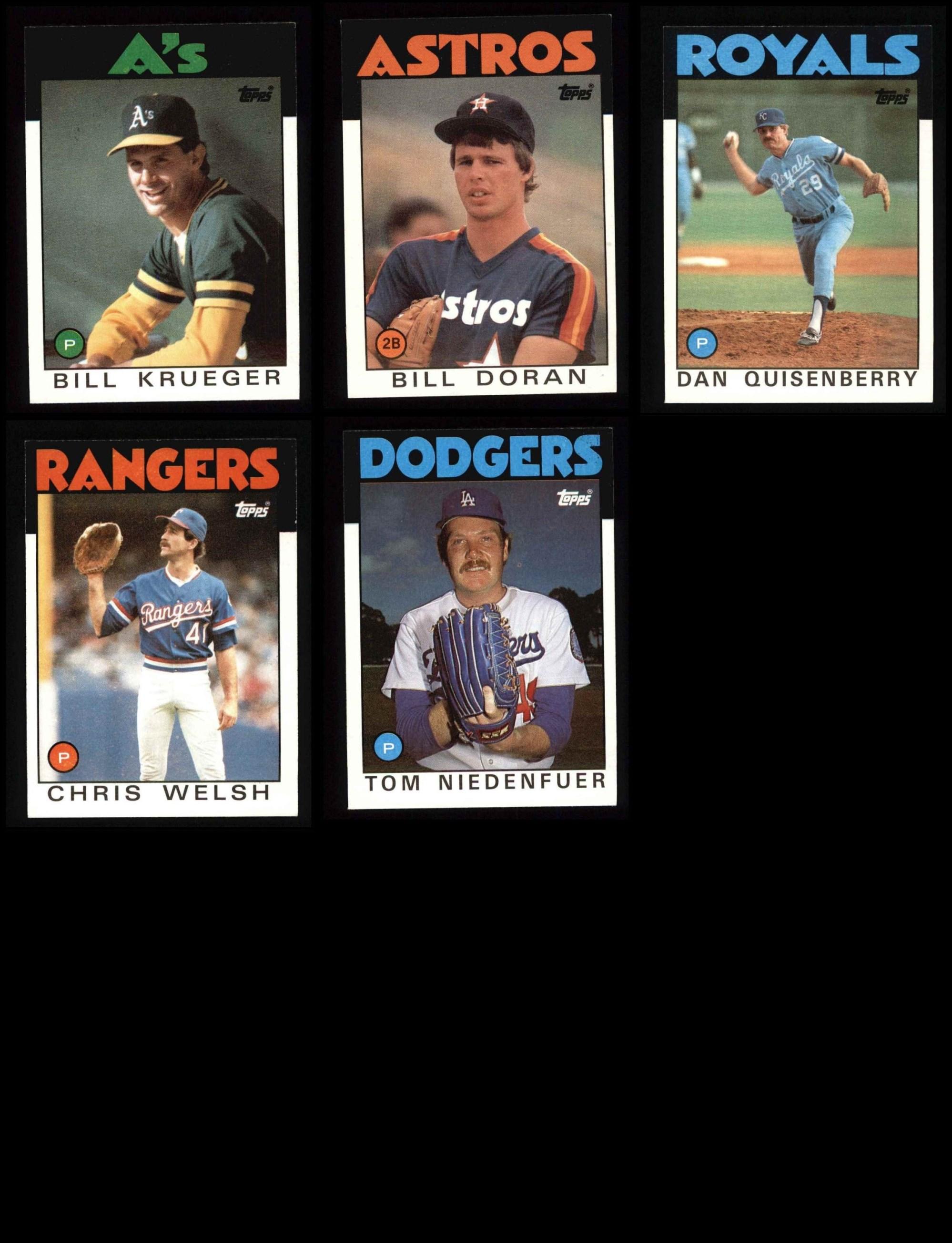 1986 Topps Baseball Complete Set In Binder Nmmt