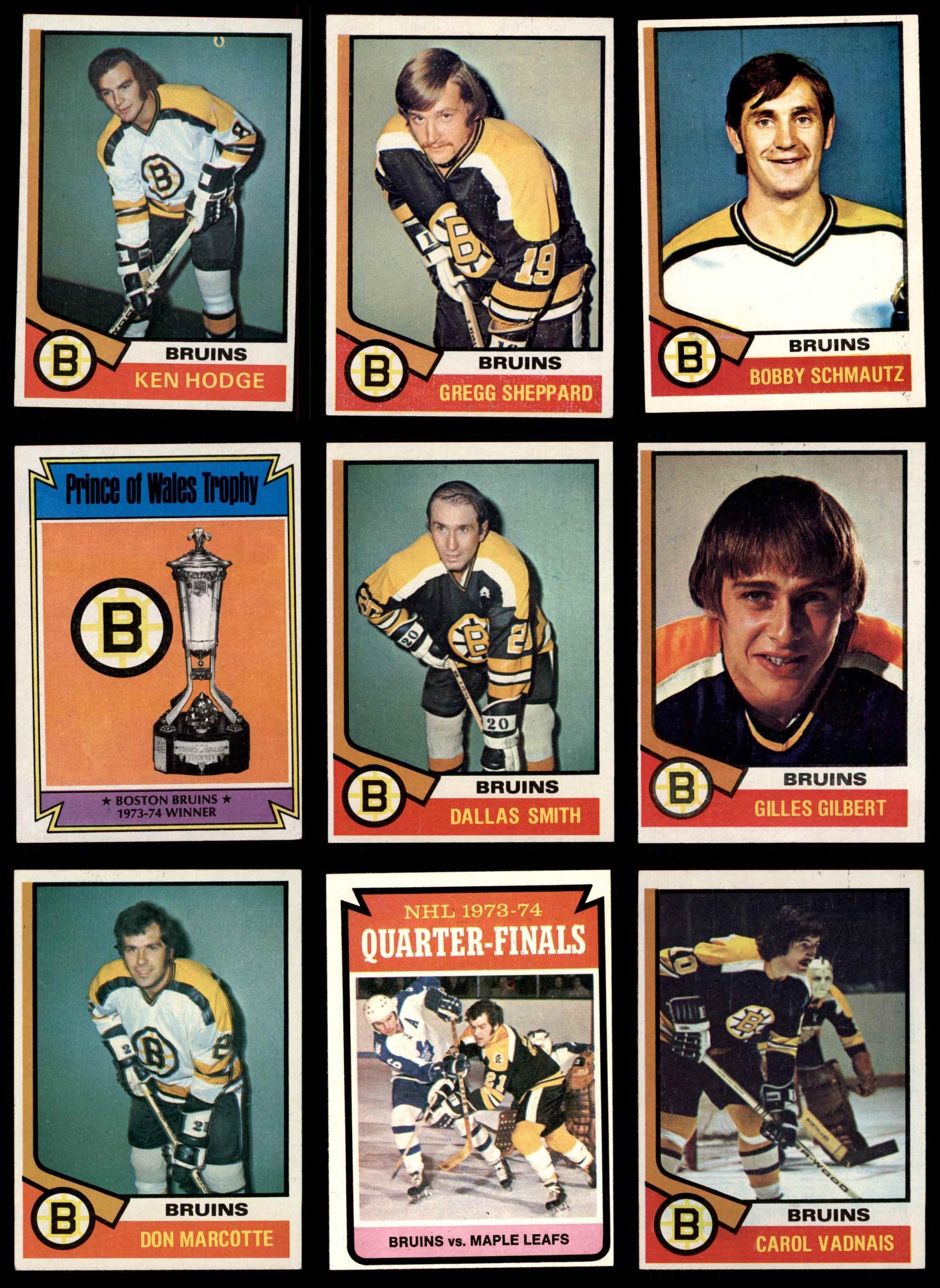 1974-75 Topps Boston Bruins Near Team Set EX+ | eBay Bruins Roster 1974