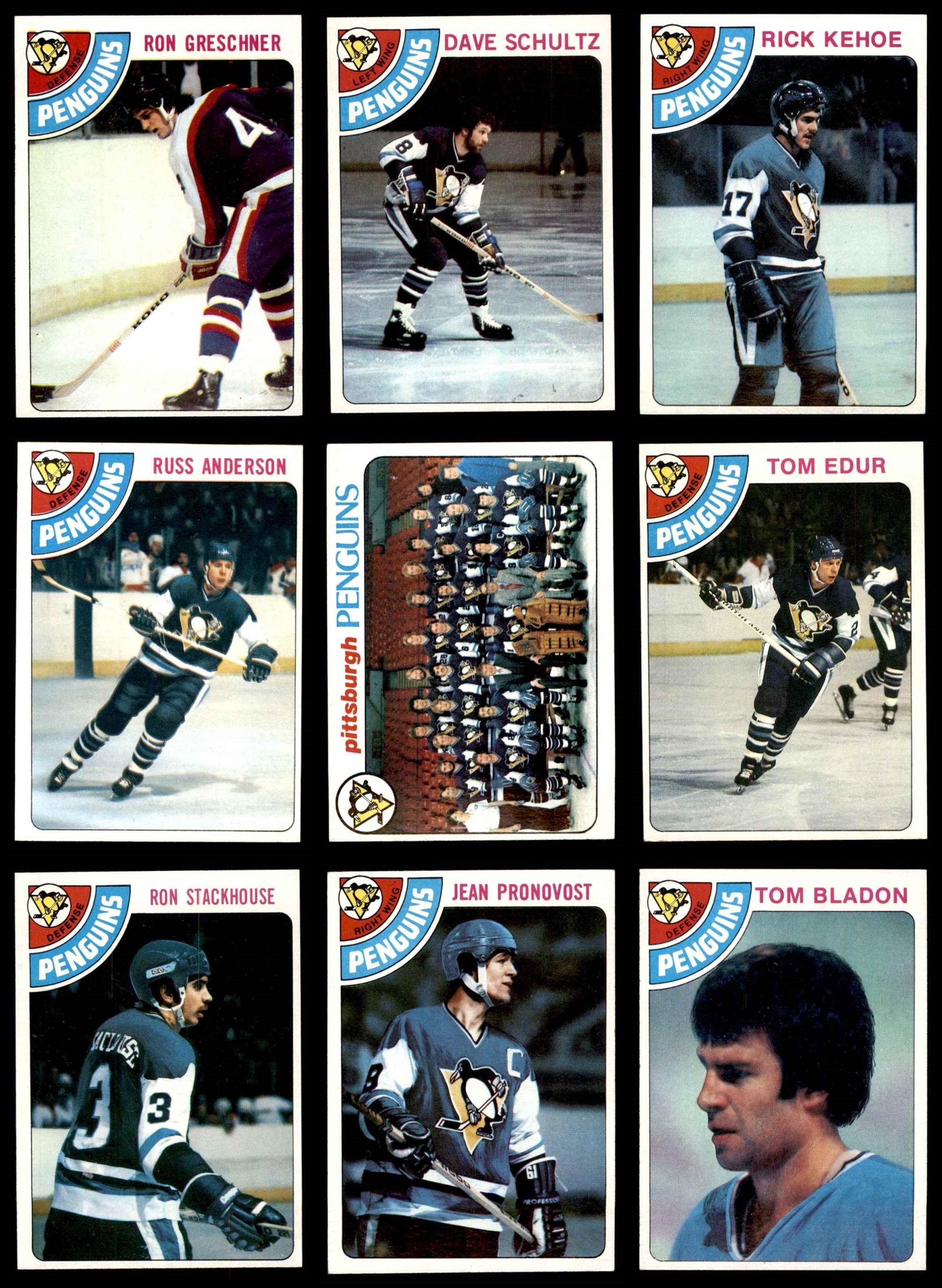 best loved 22b2d 67e2a 1978-79 TOPPS PITTSBURGH Penguins Near Team Set EX/MT