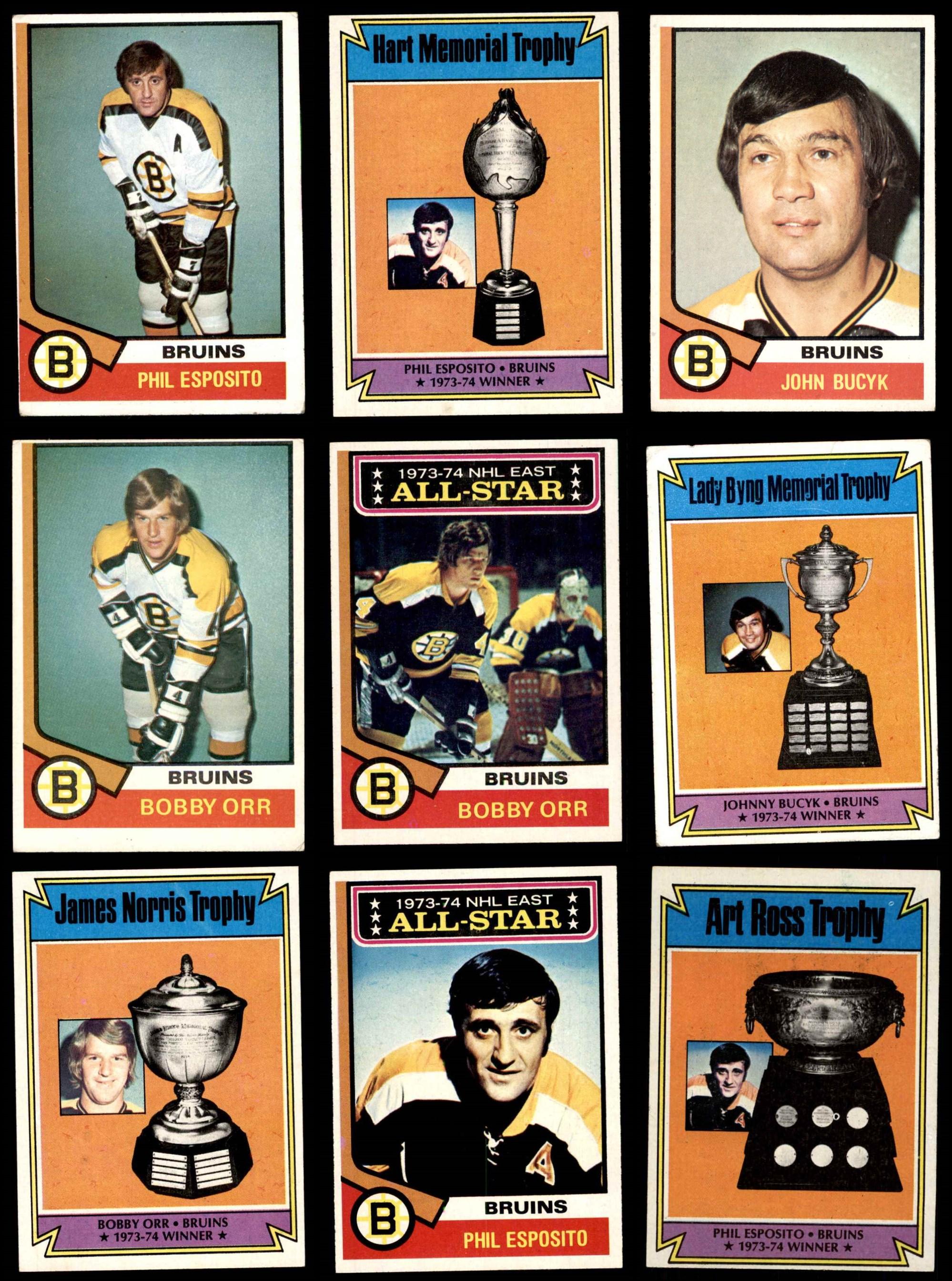 1974-75 Topps Boston Bruins Team Set 5.5 - EX+ | eBay Bruins Roster 1974