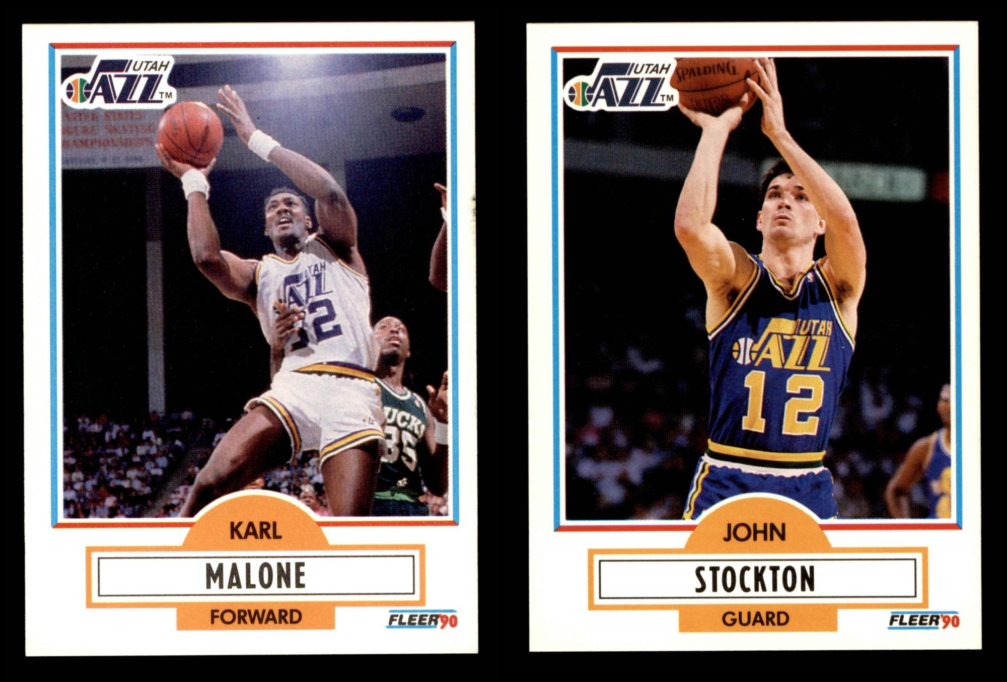 cbbaecfe1 Image is loading 1990-91-Fleer-Basketball-Complete-Set-NM-MT