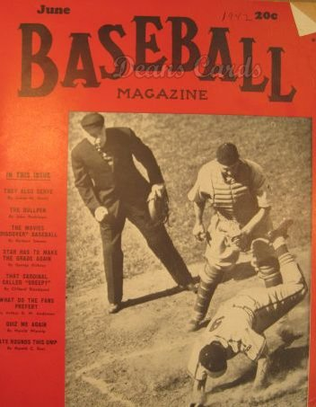 1942 Baseball Magazine    June