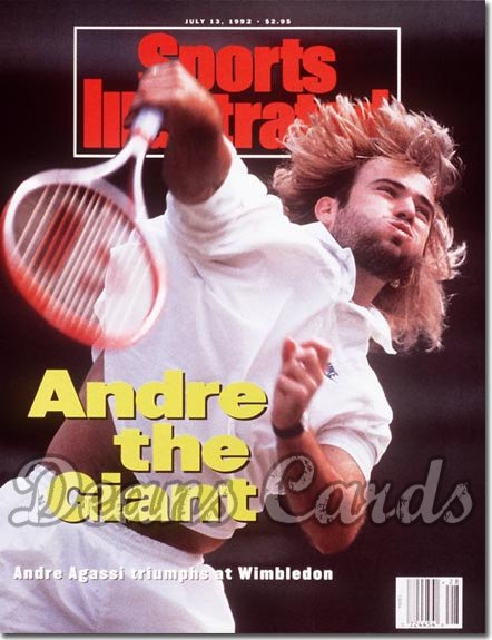 1992 Sports Illustrated - With Label   July 13  -  Andre Agassi
