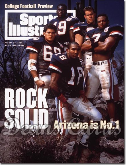 1994 Sports Illustrated - With Label   August 29  -  Tony Bouie Teddy Bruschi Sean Harris Jim Hoffman Brando