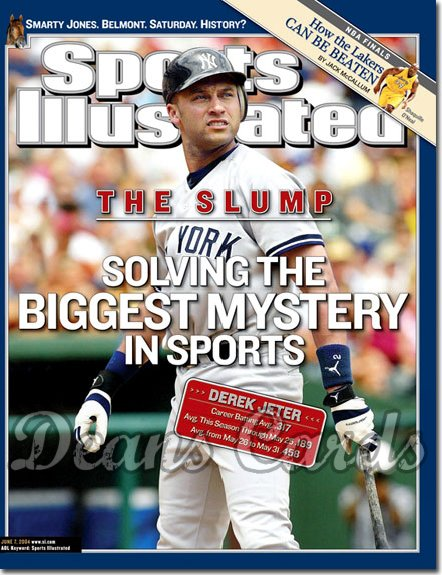 2004 Sports Illustrated - With Label   June 7  -  Derek Jeter NY Yankees