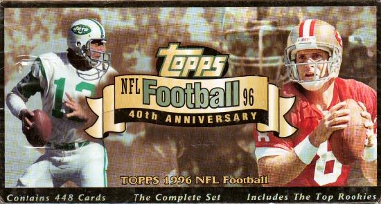 1996 Topps     Football Factory Sealed Complete Set