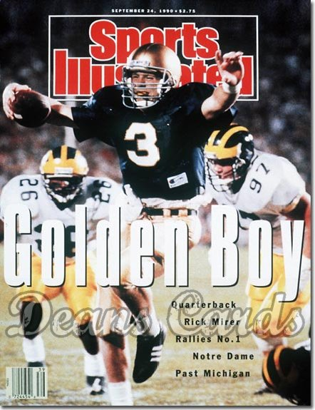1990 Sports Illustrated - No Label   September 24  -  Rick Mirer (Notre Dame Fighting Irish)