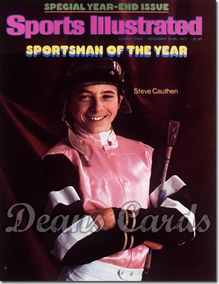 1977 Sports Illustrated - With Label   December 19  -  Steve Cauthen (Sportsmanofthe Year)