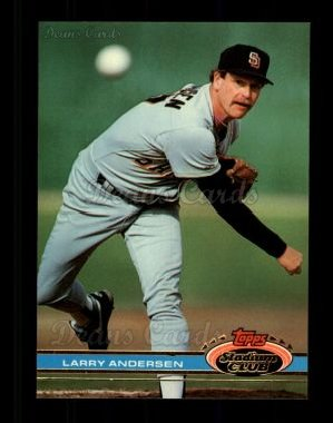1991 Topps Stadium Club #390  Larry Andersen