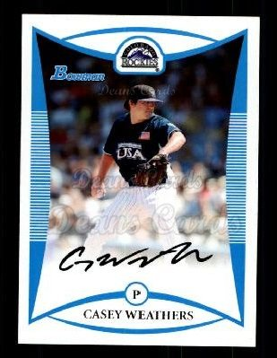 2008 Bowman Draft Prospect #100  Casey Weathers