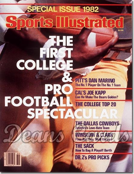 1982 Sports Illustrated - With Label   September 1  -  College/NFLPreview