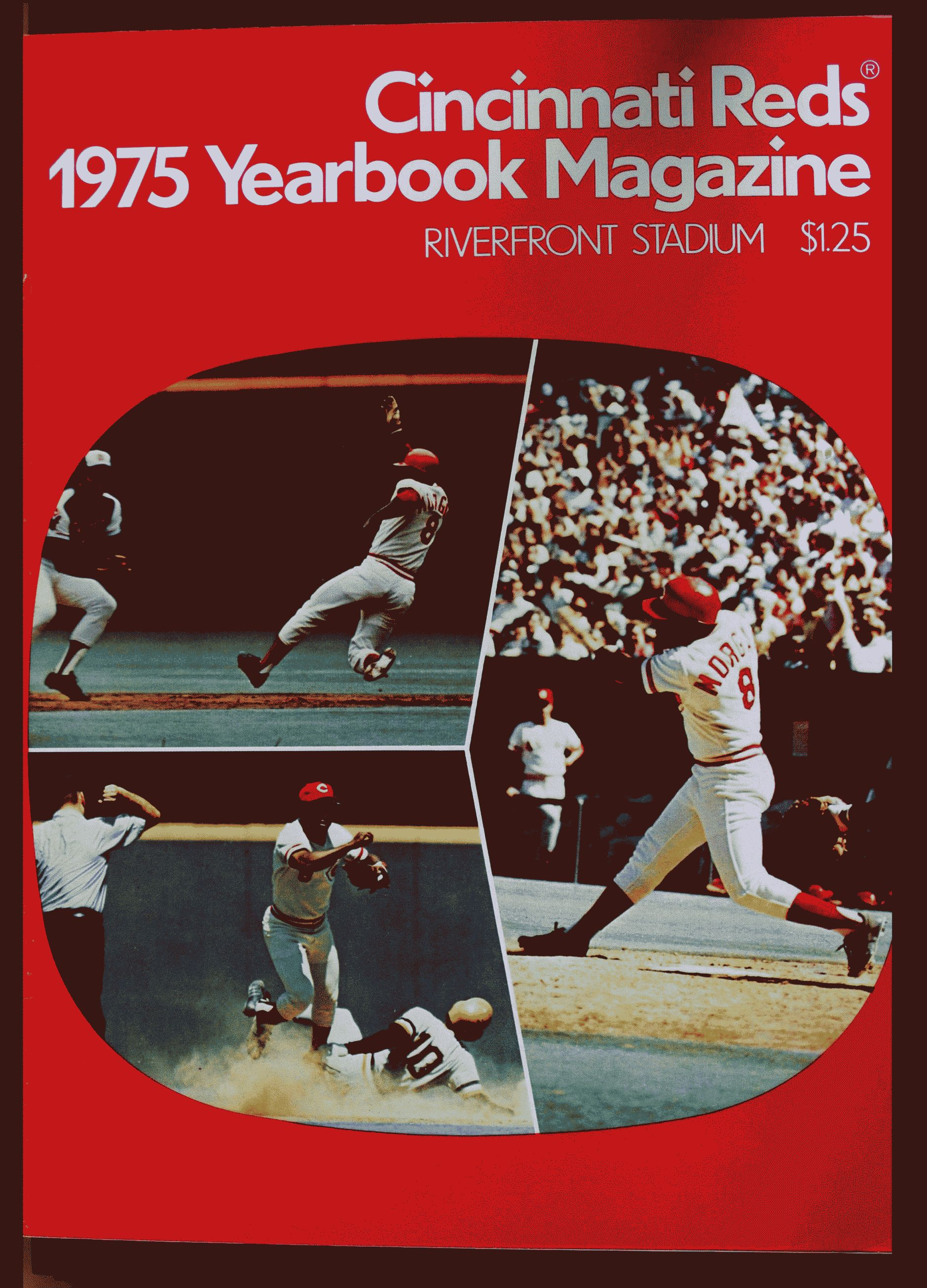 1975 Cincinnati Reds Yearbook - Joe Morgan