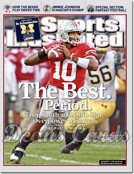 2006 Sports Illustrated - With Label   November 27  -  Troy Smith Ohio State Buckeyes