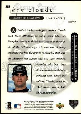 1998 Upper Deck #282  Ken Cloude