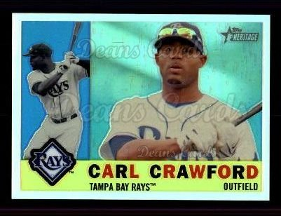 2009 Topps Heritage Chrome Refractor #23 CHR Carl Crawford