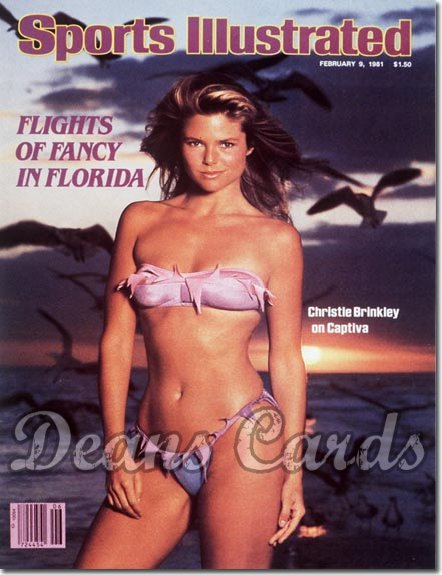 1981 Sports Illustrated - With Label   February 9  -  Christie Brinkley Swimsuit Issue