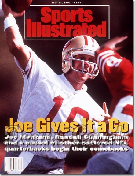 1992 Sports Illustrated - With Label   July 27  -  Joe Montana (SF 49ers)