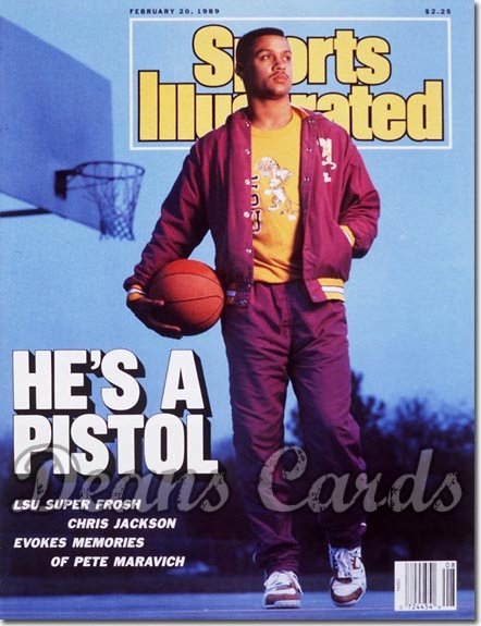 1989 Sports Illustrated - With Label   February 20  -  Chris Jackson (LSUTigers)