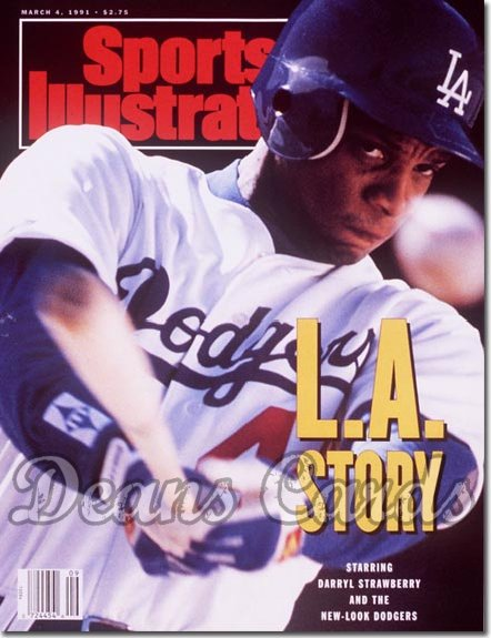 1991 Sports Illustrated - With Label   March 4  -  Darryl Strawberry (LA Dodgers)