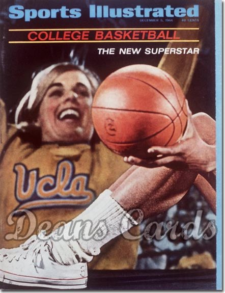1966 Sports Illustrated - With Label   December 5  -  Lew Alcindor (UCLA Bruins) 1st Cover