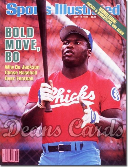 1986 Sports Illustrated - With Label   July 14  -  Bo Jackson (Memphis Chicks)
