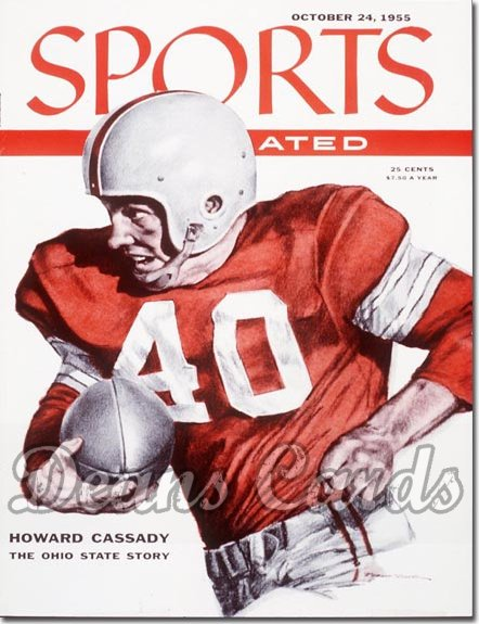 1955 Sports Illustrated - With Label   October 24  -   Howard Hopalong Cassady (Ohio State)