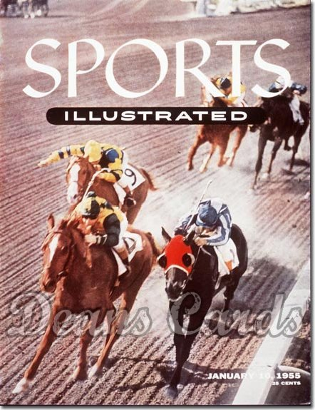 1955 Sports Illustrated - With Label   January 10  -  Santa Monica Track (Horseracing)