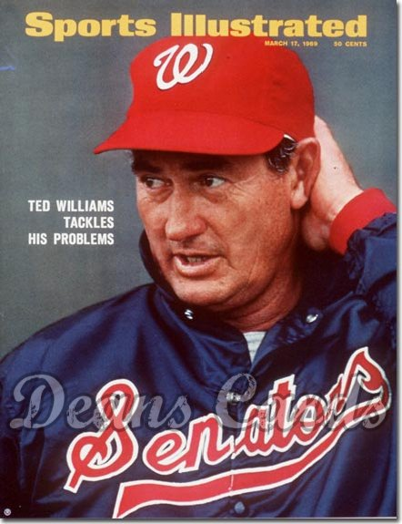 1969 Sports Illustrated - With Label   March 17  -  Ted Williams (Washington)