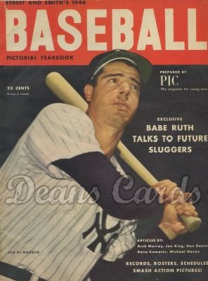 1948 Street & Smith's Baseball Yearbook   -  Joe DiMaggio