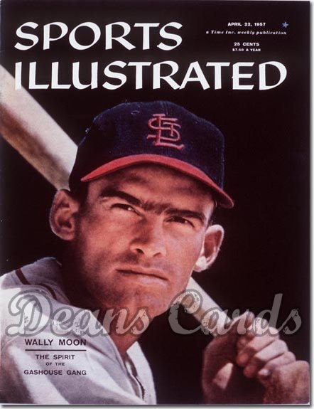1957 Sports Illustrated - With Label   April 22  -  Wally Moon St. Louis Cardinals