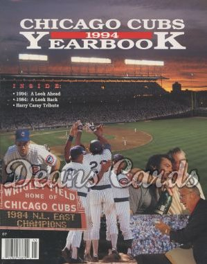 1994 Chicago Cubs Yearbook - Moments from 1984 season