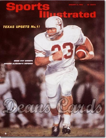 1965 Sports Illustrated - With Label   January 11  -  Ernie Koy Texas Longhorns
