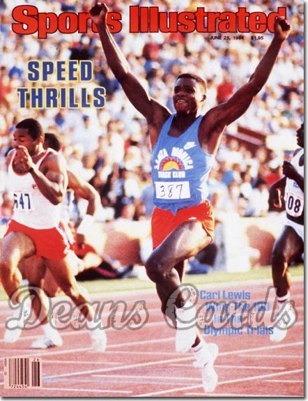 1984 Sports Illustrated - No Label   June 25  -  Carl Lewis (Olympics)