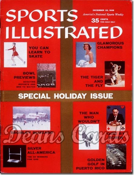 1958 Sports Illustrated - With Label   December 22  -  Holiday Issue