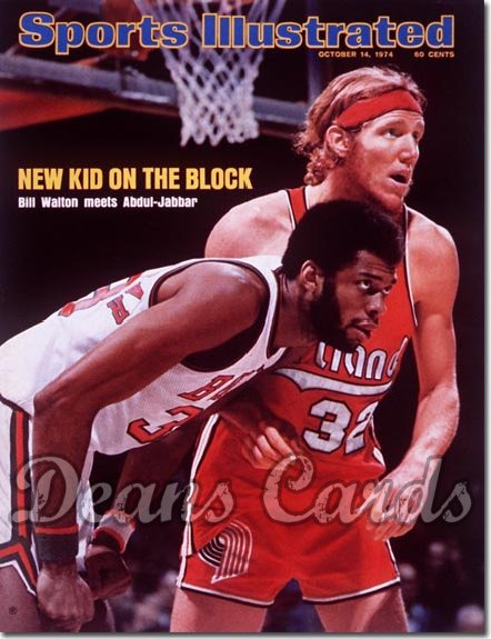 1974 Sports Illustrated - With Label   October 14  -  Walton (Trail Blazers)/Abdul