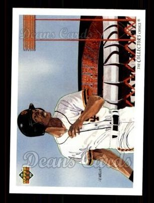 1992 Upper Deck #34   -  Willie McGee San Francisco Giants Team