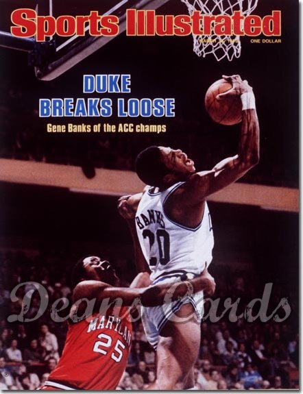 1978 Sports Illustrated - With Label   March 13  -  Gene Banks (Duke Blue Devils)