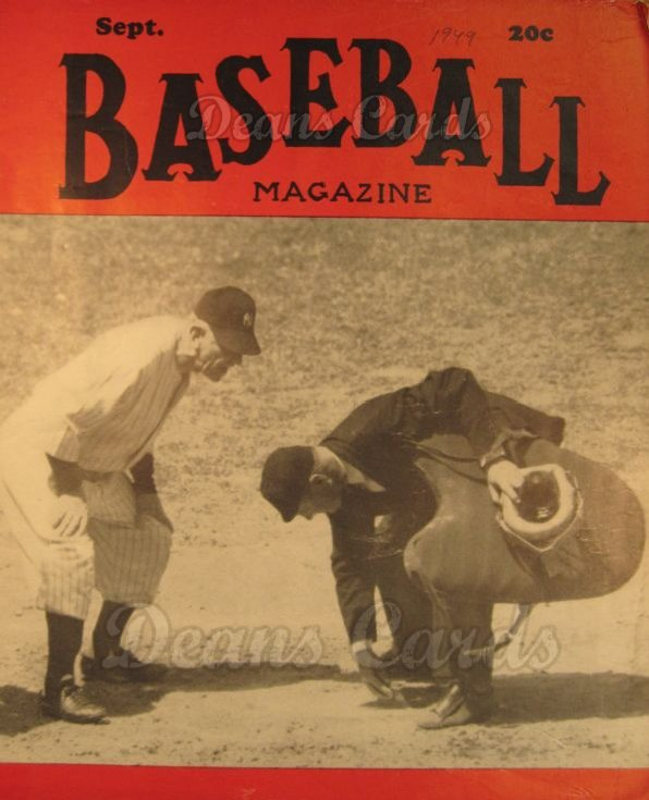 1949 Baseball Magazine    September