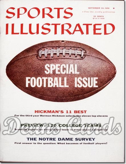 1956 Sports Illustrated - With Label   September 24  -  Football Preview Issue