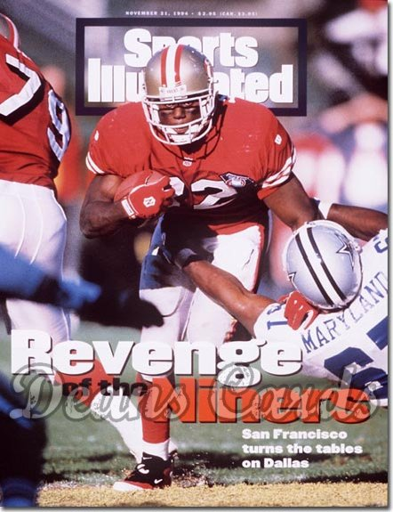 1994 Sports Illustrated - With Label   November 21  -  Ricky Watters (49ers) Russell Maryland (Cowboys)