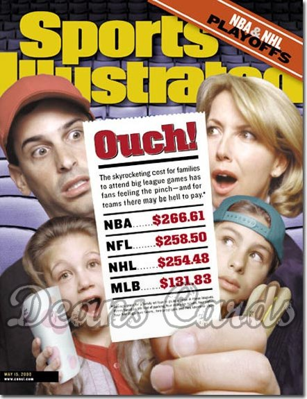 2000 Sports Illustrated - With Label   May 15  -  Ticket Prices Regional