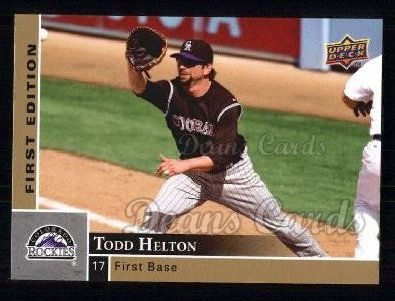 2009 Upper Deck First Edition #95  Todd Helton
