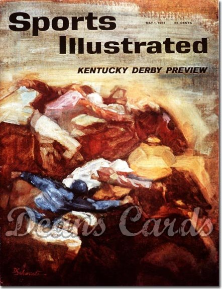 1961 Sports Illustrated - With Label   May 1  -  Kentucky Derby Issue