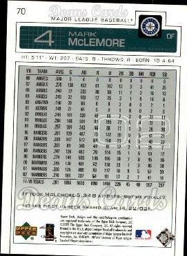 2003 Upper Deck #70  Mark McLemore