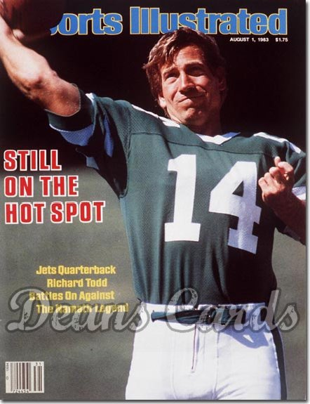 1983 Sports Illustrated - With Label   August 1  -  Richard Todd (New York Jets)
