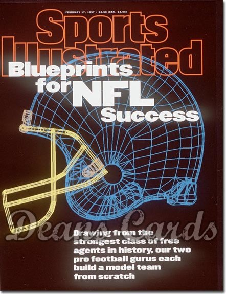 1997 Sports Illustrated - With Label   February 17  -  Football Helmet (Blueprints for NFL Success)