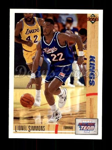 1991 Upper Deck #36   -  Lionel Simmons All-Rookie Team