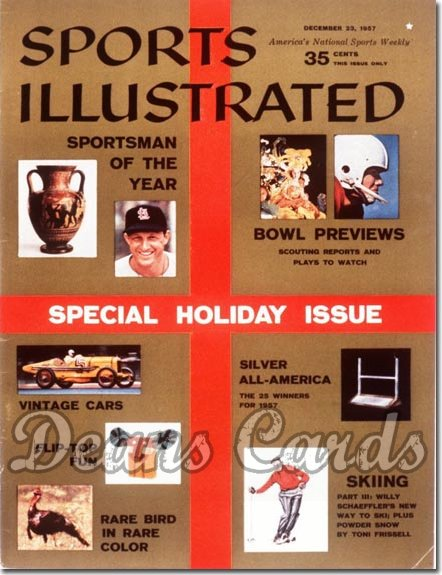 1957 Sports Illustrated - With Label   December 23  -  Stan Musial St. Louis Cardinals (SOY)