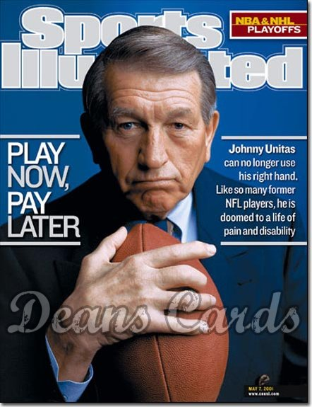 2001 Sports Illustrated - With Label   May 7  -  Johnny Unitas (Baltimore Colts)