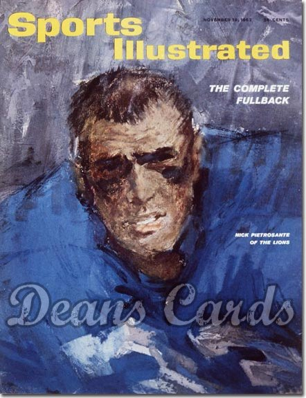 1962 Sports Illustrated - With Label   November 19  -  Nick Pietrosante Detroit Lions
